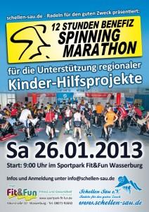 Plakat Spinningmarathon 2013